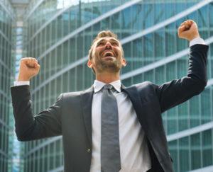 Ein Unternehmer der in seinem Business Erfolg hat