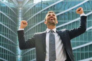 Ein Unternehmer, der in seinen Business erfolgreich ist
